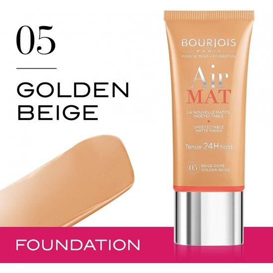 -Bourjois Air Mat -Foundation-بورجوا - اساس اير مات 24ساعه - جولدن بيج 05